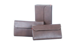 Brown wallets Stock Photos