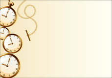 Brown wallpaper with retro watch design royalty free illustration