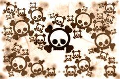 Brown war skulls. On white background stock illustration