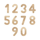 Brown watercolor numbers for design Stock Image
