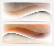 Brown wavy banners Royalty Free Stock Image