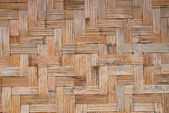 Brown weave wood pattern Stock Photography