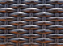 Brown weaved rattan background size 4:3 Royalty Free Stock Images