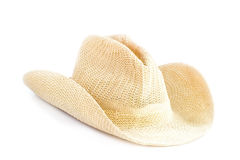 Brown weaving hat isolated on white Stock Images