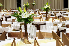 Brown wedding decoration Royalty Free Stock Image