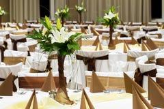 Brown wedding decoration Royalty Free Stock Image
