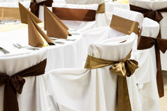 Brown wedding decoration Royalty Free Stock Photo