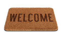 Brown welcome doormat Royalty Free Stock Image