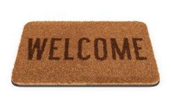 Brown welcome doormat Royalty Free Stock Image