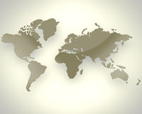 Brown-Weltkarte Stockfotografie