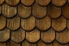 Brown and wet shingles Royalty Free Stock Photo