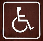 Brown wheelchair sign Royalty Free Stock Photography