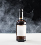 Brown Whiskey bottle. Stock Photos