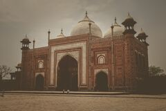 Brown White and Beige Mosque Royalty Free Stock Photo