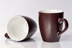Brown and White Ceramic Mug Royalty Free Stock Photos