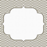 Brown and White Chevron Zigzag Frame Background Stock Image