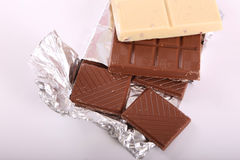Brown and white chocolate Stock Photography