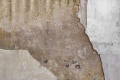 Brown and White Concrete Old Cracked Wall Stock Images