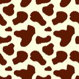 Brown and white cow skin animal print seamless pattern, vector. Background Royalty Free Stock Images