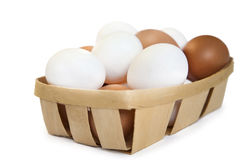 Brown and white eggs Royalty Free Stock Photo