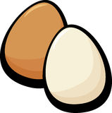 brown and white eggs vector illustration Stock Images