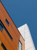 Brown and white facade. Of a building in the Netherlands Stock Photo