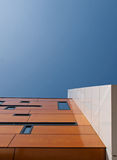 Brown and white facade. Of a building in the Netherlands Royalty Free Stock Photos