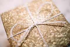 Brown and White Gift Box Royalty Free Stock Image