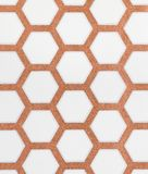 Brown and white hexagon pattern wallpaper background Stock Image