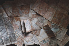 Brown and White Map Royalty Free Stock Images
