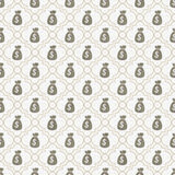 Brown and White Money Bag Repeat Pattern Background Stock Image