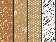 Brown and white pattern. Brown and white forms patterned abstract of nature Royalty Free Stock Photos