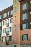 Brown White and Red Apartment Building Stock Image