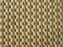Brown and white relief plush fabric texture Royalty Free Stock Image