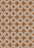 Brown and White Seamless Retro Abstract Vector Background Stock Photography