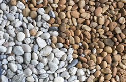 Brown and white stone, gravel, texture background Stock Photos