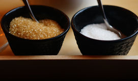 Brown and white sugar Stock Photo