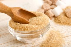 Brown and white sugar Royalty Free Stock Image