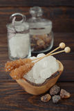 Brown and white sugar Stock Image