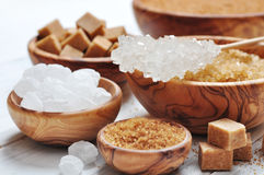 Brown and white sugar Royalty Free Stock Photo