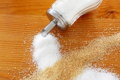 Brown and white sugar Stock Photography