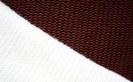 Brown and white sweater texture Royalty Free Stock Image