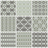 Brown and white vector intertwining circle pattern Royalty Free Stock Photo