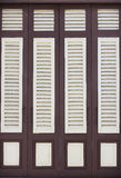 Brown and white wood windows Stock Photography