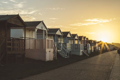 Brown White Wooden Lined Houses Stock Photo