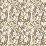Brown on white zebra stripe print seamless repeat pattern background Stock Photo