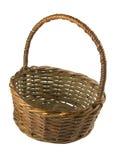 Brown wicker basket Stock Image