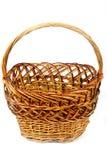 Brown wicker basket Stock Photo