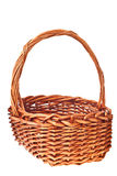 Brown wicker basket isolated Royalty Free Stock Image