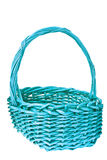 Brown wicker basket isolated Royalty Free Stock Images